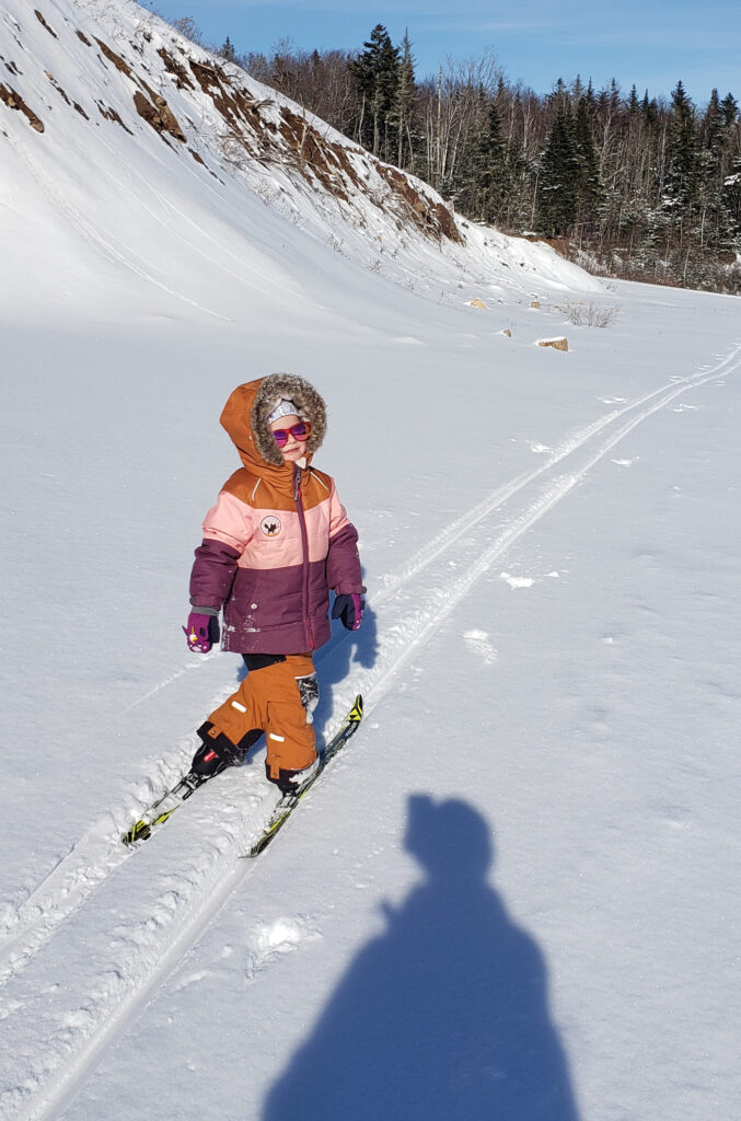 Learning to ski!